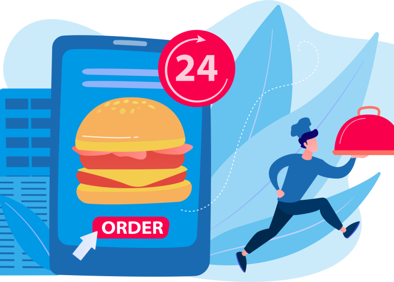mobile with online ordering app screen